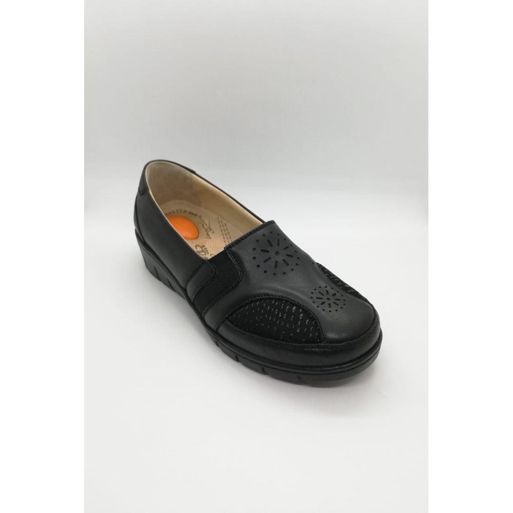 302 SİYAH Hakiki Deri Halluks Valgus ve Topuk Dikeni Özellikli Diyabetik Ayakkabı